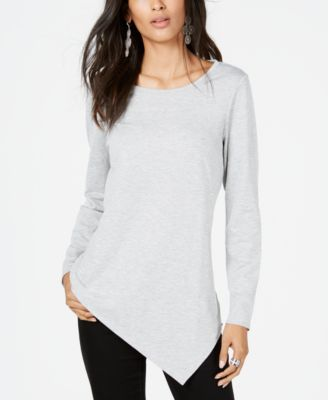 I.N.C. Asymmetrical-Hem Tunic Sweatshirt, Created for Macy's