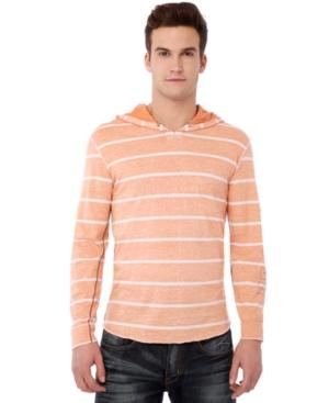 Buffao David Bitton Shirt, Naken Striped Hooded Long Sleeve Shirt