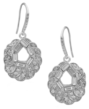 Carolee Earrings, Circular Glass Bridal Earrings