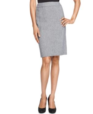 Calvin Klein Skirt, Linen Blend Pencil