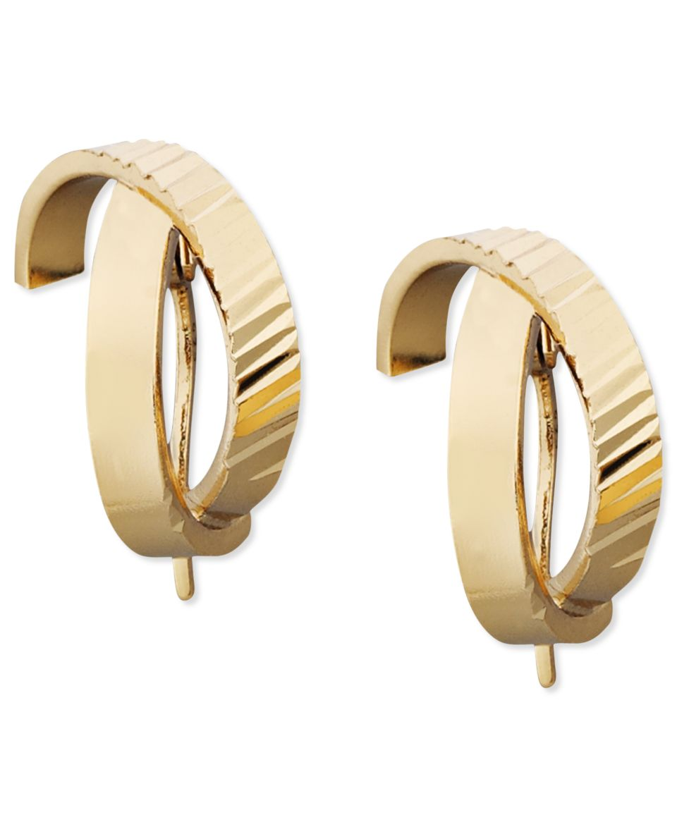 Giani Bernini 24k Gold over Sterling Silver Earrings, Crossover Hoop Earrings   Earrings   Jewelry & Watches