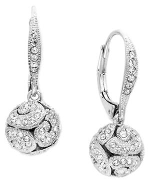 Eliot Danori Earrings, Silver Tone Crystal Swirl Bead Earrings