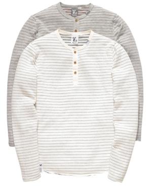 LRG Shirt, Serving Well Striped Henley