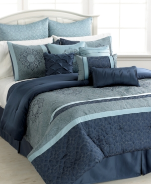 Ambrosia 12 Piece California King Comforter Set Bedding