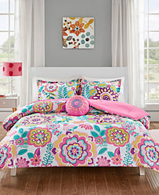 Mi Zone Camille 4-Pc. Full/Queen Floral Comforter Set