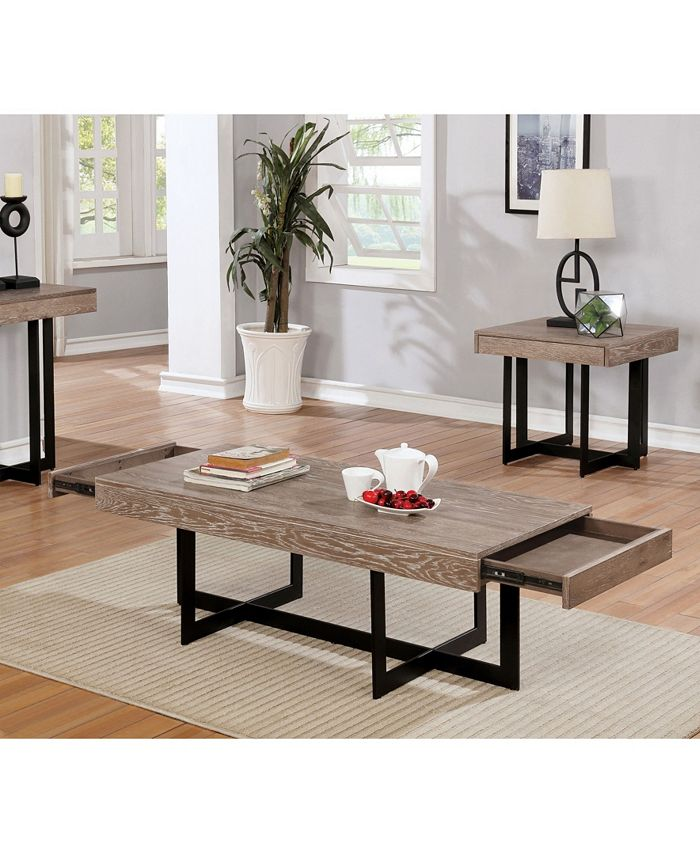 Furniture Of America Tanmer Intersecting Base Coffee Table Reviews Furniture Macy S