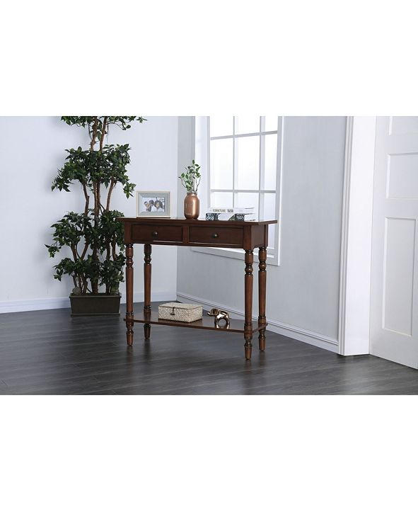 Furniture of America Humphry Two-Drawer Wooden Desk