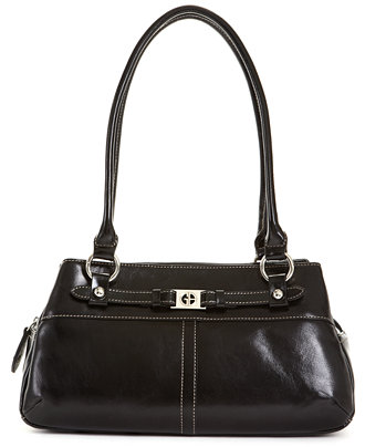 Giani Bernini Florentine Glazed Leather Swagger Satchel