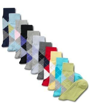 Club Room Socks, Fashion Argyle Single Sock