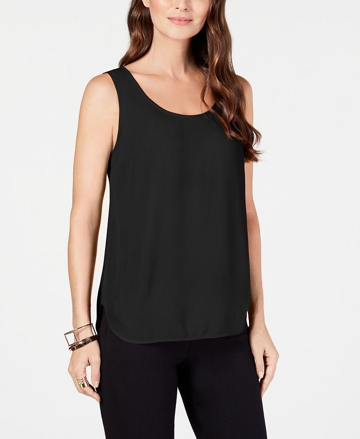 Alfani - Sleeveless Scoop-Neck Shell