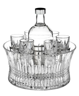 Waterford Barware, Lismore Diamond Vodka Set with Chill Bowl