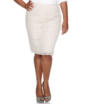 Charter Club Plus Size Skirt, Lace Pencil
