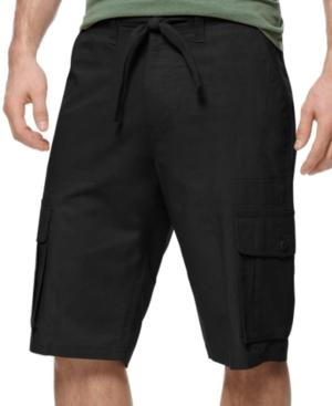 Sean John Shorts Linen Cargo Shorts