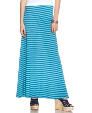 Jessica Simpson Skirt, Striped A-Line Maxi
