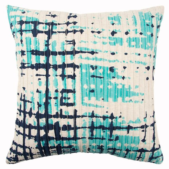 "Rizzy Home 20"" x 20"" Abstract Design Pillow Down Filled"