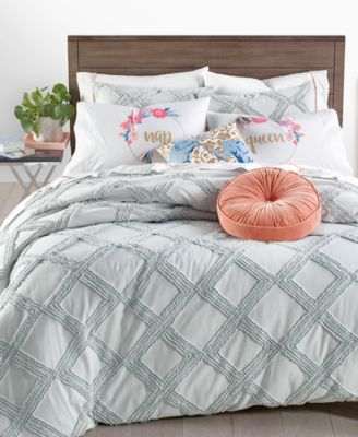 CLOSEOUT! Chenille Trellis 2-Pc. Twin/Twin XL Comforter Set, Created for Macy's