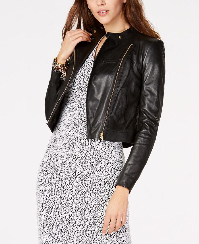 Michael Kors - Leather Moto Jacket