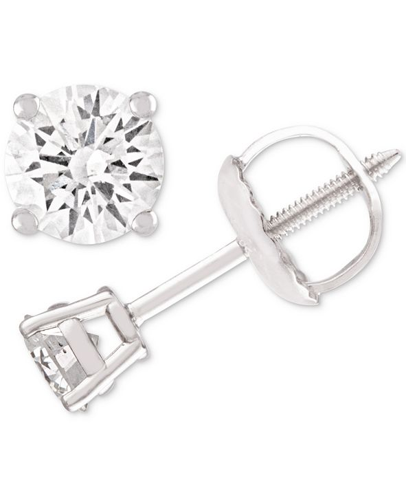 Macy's Diamond Stud Earrings (1/4 ct. t.w.) in 14k White Gold
