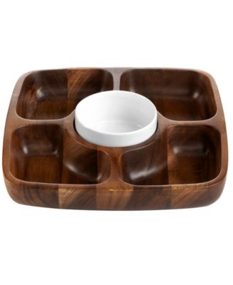 The Cellar Acacia Wood 5 Section Tray