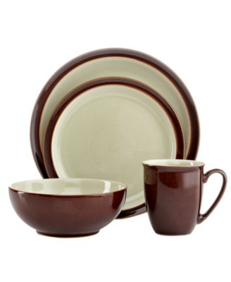 Denby Dinnerware, Duets Chestnut Apple 4 Piece Place Setting