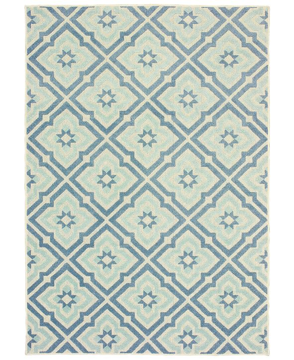 "Oriental Weavers Barbados 1801 3'3"" x 5' Indoor/Outdoor Area Rug"