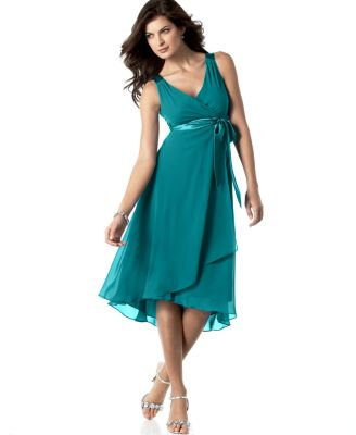 Evan Picone Dress Sleeveless Satin Tie