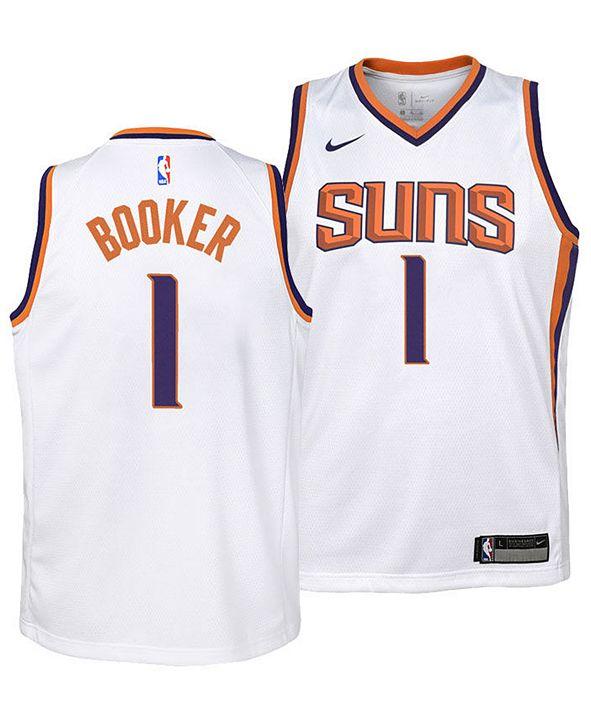 Nike Devin Booker Phoenix Suns Association Swingman Jersey, Big Boys (8-20)