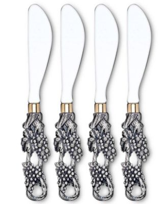 Arthur Court Grape Cheese Spreaders, Set of 4