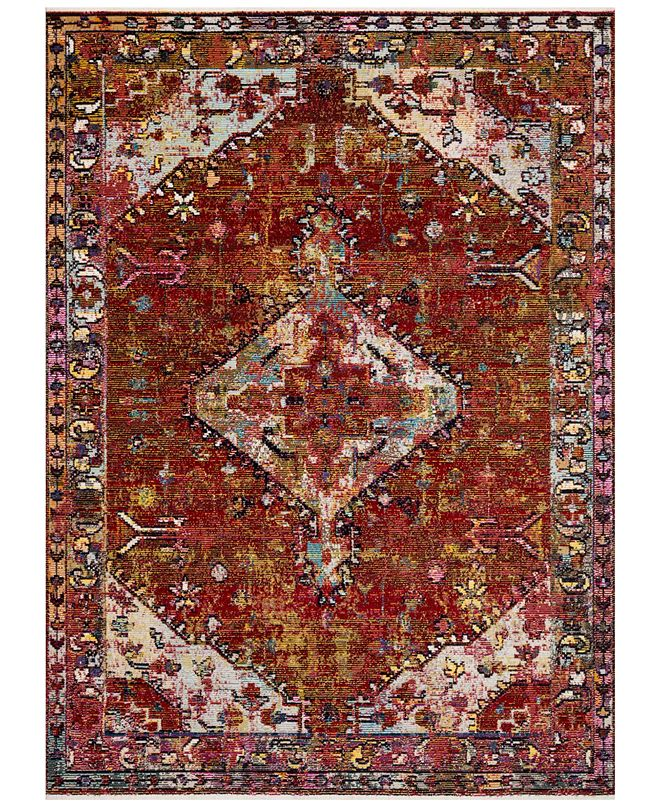 "Justina Blakeney Silvia SIL-06 Red/Multi 2'6"" x 8' Runner Area Rug"