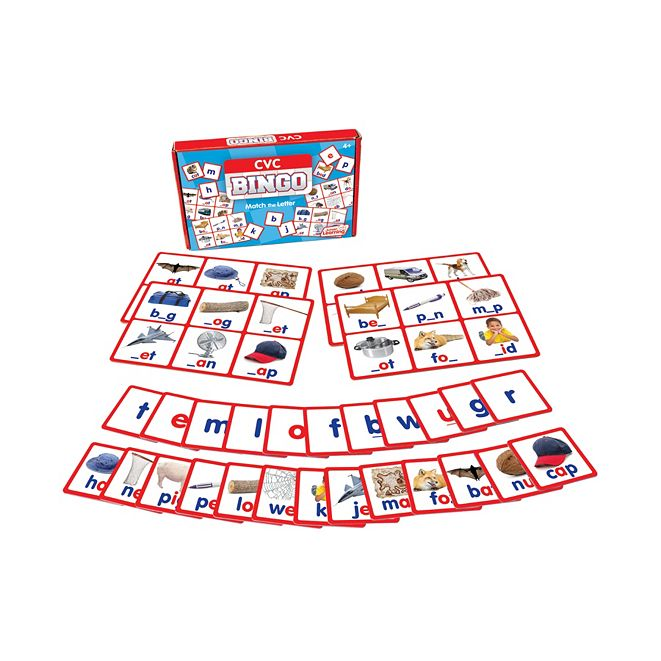 Junior Learning CVC Bingo Learning Educational Game