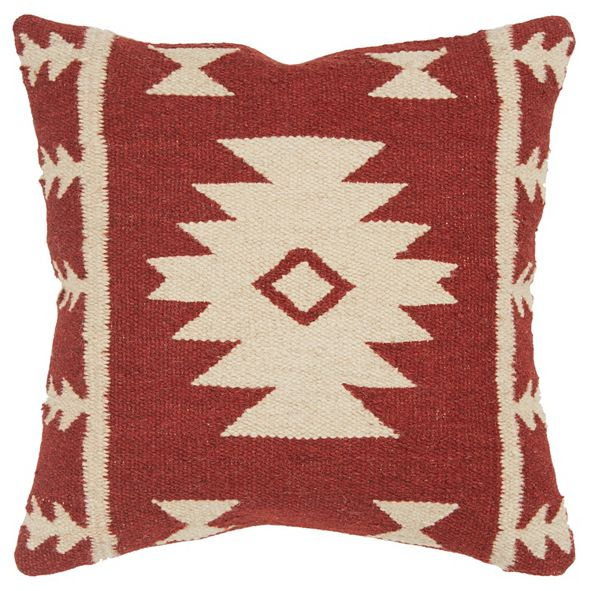 """Rizzy Home 18"""" x 18"""" Stripes with Motif Accents Pillow Cover"""