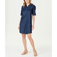 Deals on Karen Scott Chambray Shirtdress