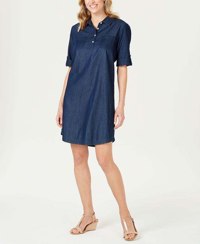 Karen Scott - Chambray Shirtdress, Created For Macy's