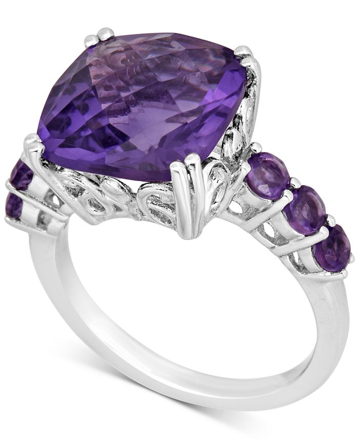 Macy's - Amethyst (6 ct. t.w.) Cocktail Ring in Sterling Silver