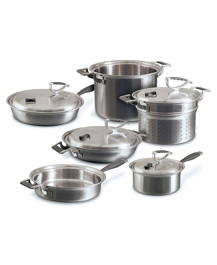 CookCraft - 10pc Tri-Ply Cookware Set