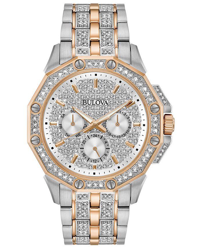 Bulova - Men's Chronograph Phantom Two-Tone Stainless Steel & Crystal Accent Bracelet Watch 41.5mm