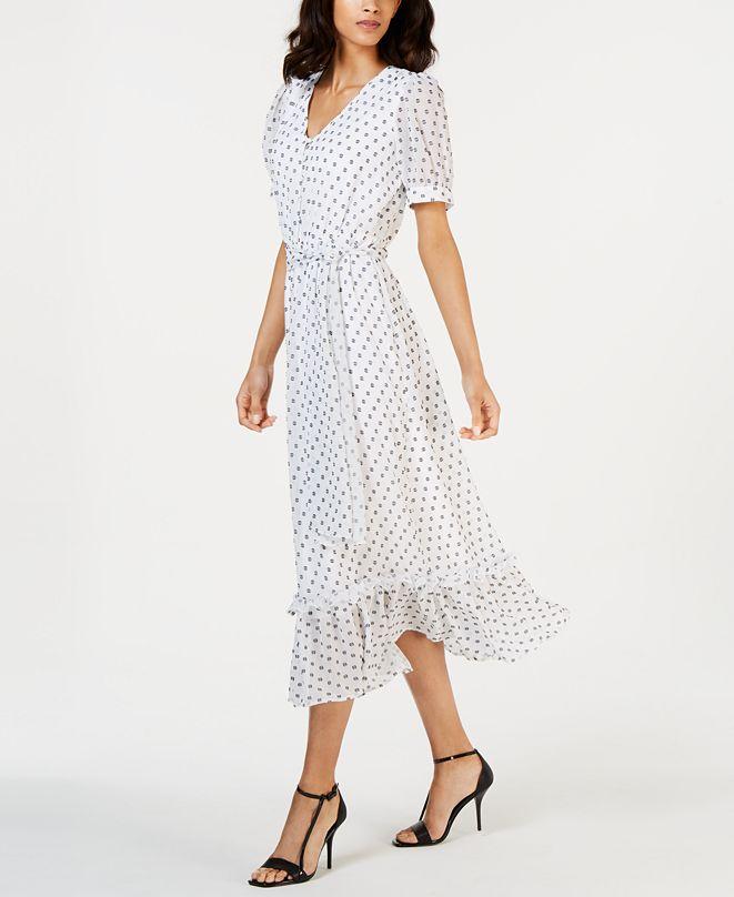 Calvin Klein Petite Clip-Dot Maxi Dress
