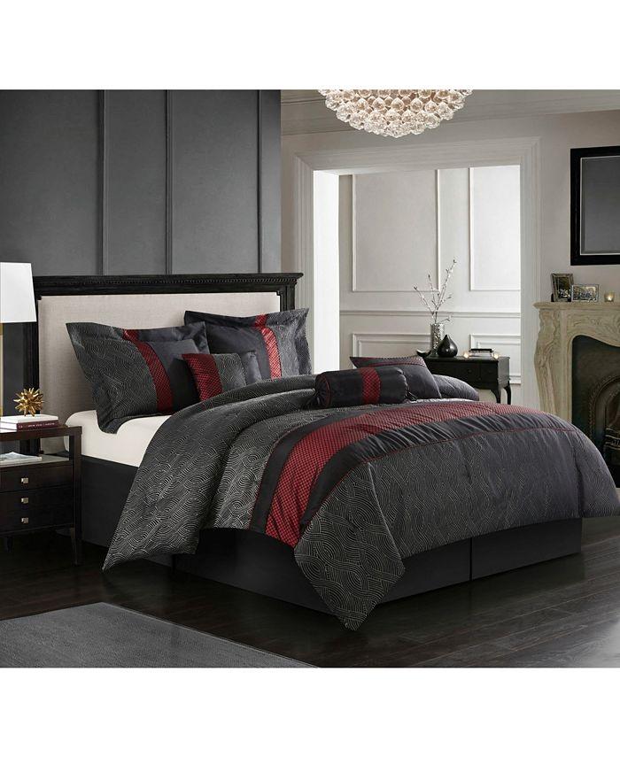 Nanshing - Corell Black 7-Piece Comforter Sets