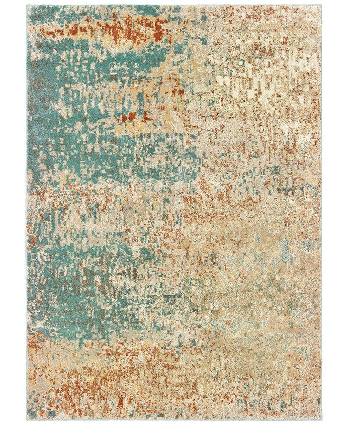 "Oriental Weavers - Carson 9654B Blue/Orange 9'10"" x 12'10"" Area Rug"