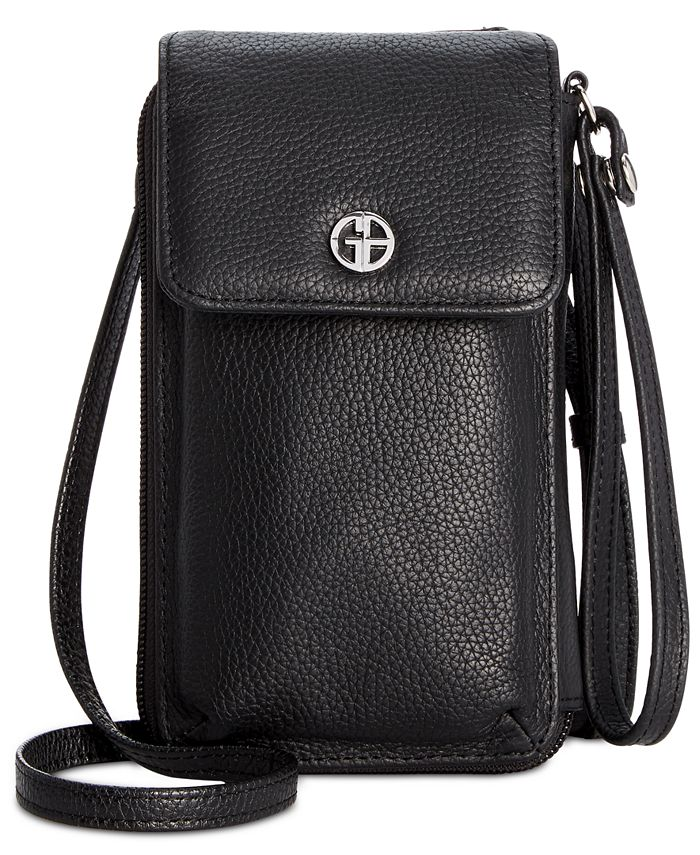 Giani Bernini - Softy Leather Tech Crossbody Wallet