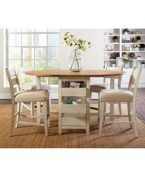 Furniture Neighbors Drop Leaf Counter Height Dining Furniture Collection Reviews Furniture Macy S