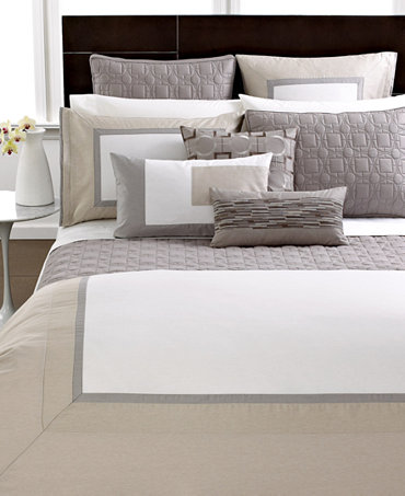 Closeout Hotel Collection Modern Block Bedding Collection
