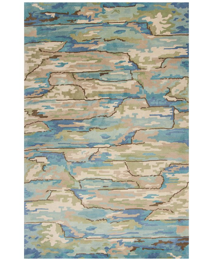 Kas - Whisper Landscapes 3002 Beige/Blue 5' x 8' Area Rug