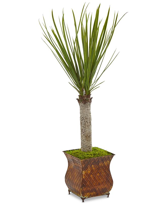 """Nearly Natural 40"""" Yucca Artificial Tree in Metal Planter"""