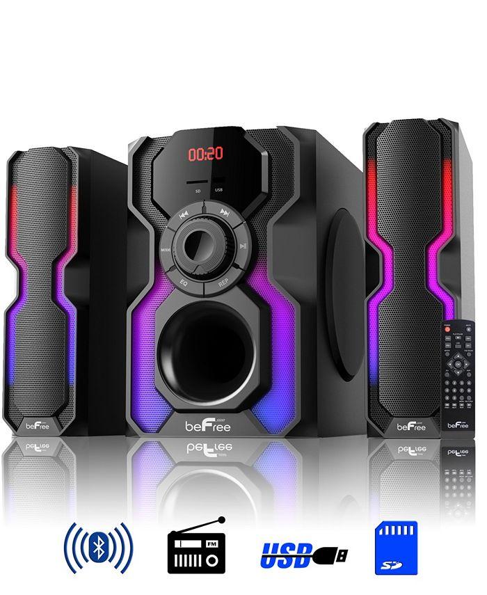 BeFreeSound - 2.1 Channel Bluetooth Multimedia Wired Speaker Shelf Ste