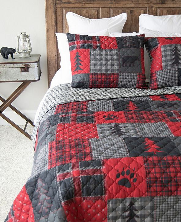 American Heritage Textiles Red Forest Quilt Collection, Queen