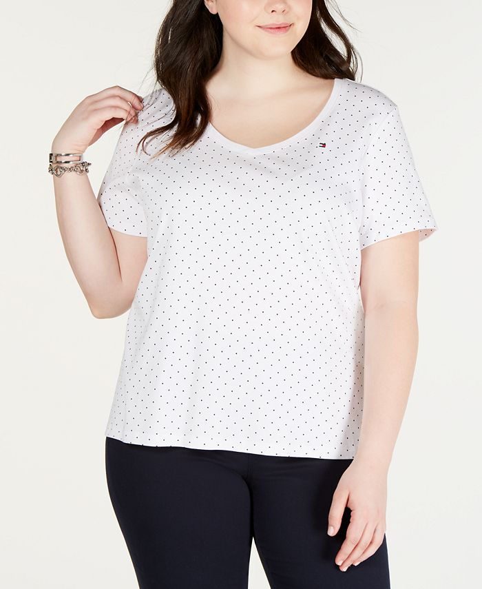 Tommy Hilfiger - Plus Size Cotton Polka Dot T-Shirt