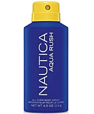 Nautica Aqua Rush All Over Body Spray, 4 oz