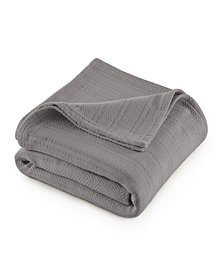 Vellux Cotton Textured Chevron Woven Twin Blanket