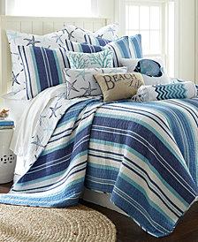 Camps Bay Coastal Print Reversible Full/Queen Quilt Set
